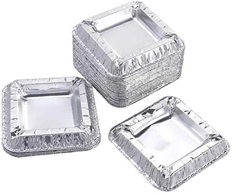 痛い想像する仮称30個の正方形のアルミ箔灰皿アンブレイカブル使い捨てシガー灰皿