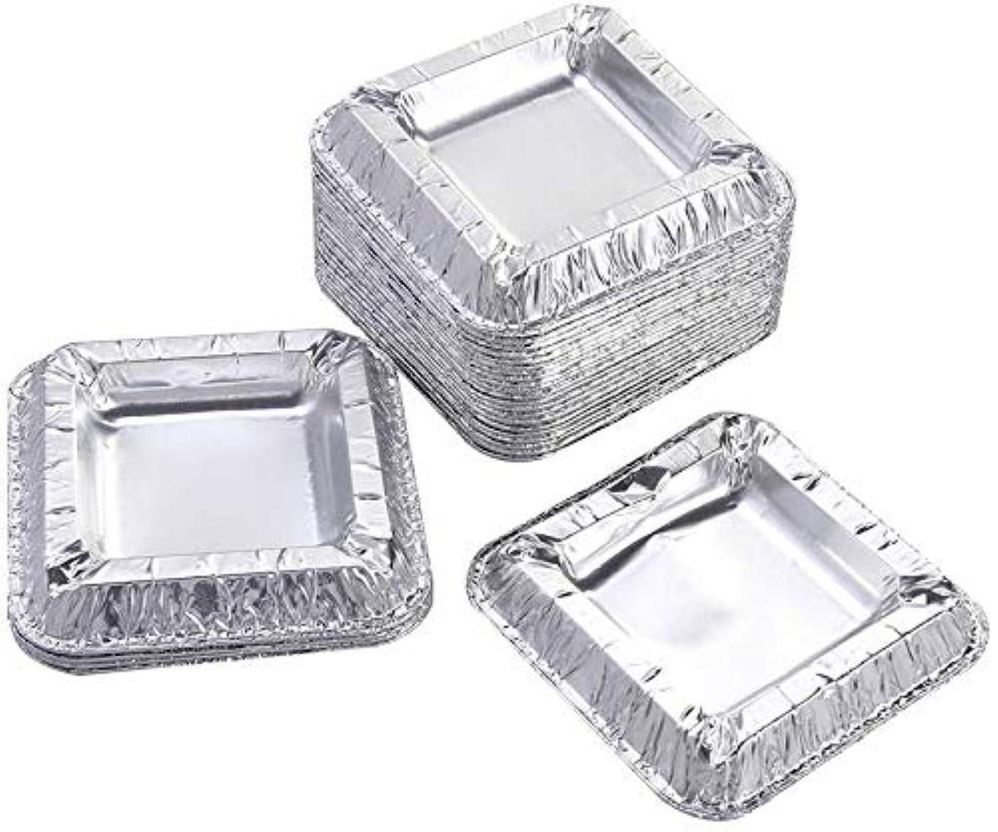 感謝シャット教会30個の正方形のアルミ箔灰皿アンブレイカブル使い捨てシガー灰皿