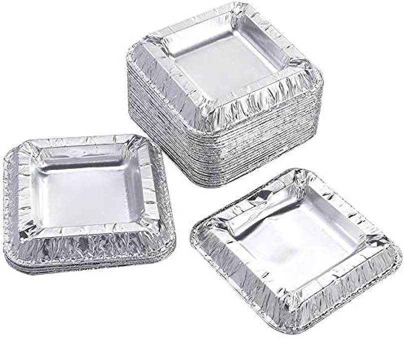 十億化学薬品ペリスコープ30個の正方形のアルミ箔灰皿アンブレイカブル使い捨てシガー灰皿