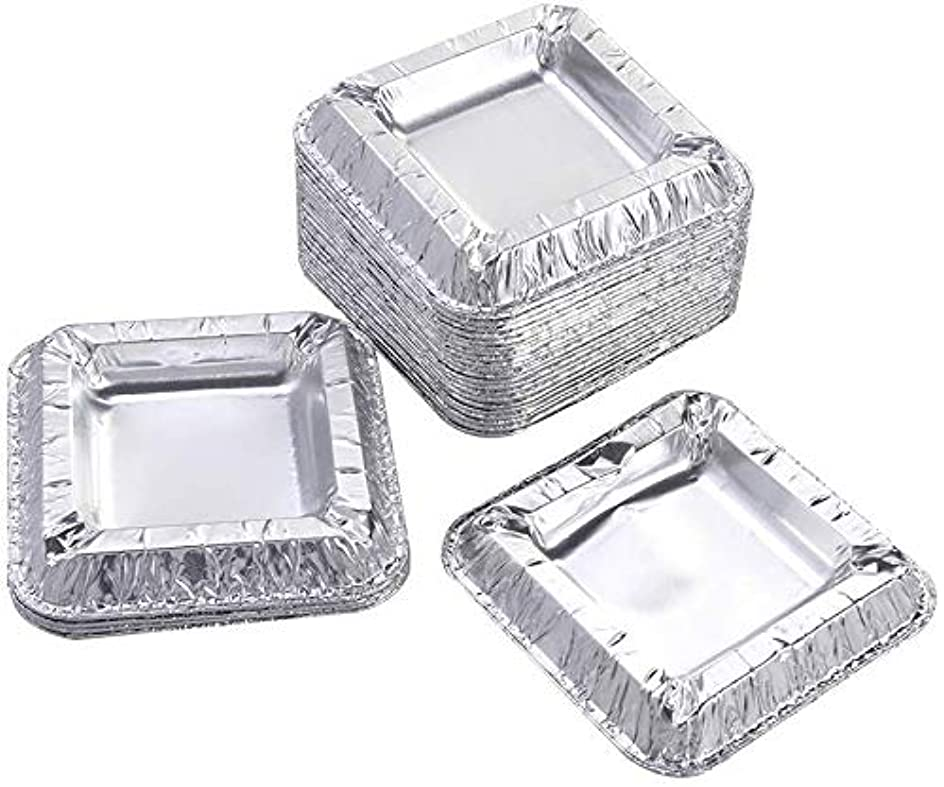 アクチュエータエンターテインメント情報30個の正方形のアルミ箔灰皿アンブレイカブル使い捨てシガー灰皿
