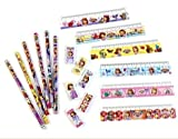 Disney ディズニー ちいさな プリンセス ソフィア 3点文具セット × 6色入り 鉛筆 消しゴム 定規