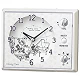SEIKO CLOCK (セイコークロック) 目覚まし時計 ミッキーマウス ミニーマウス アナログ マルチサウンドアラーム Disney Time(ディズニータイム) 白パール FD478W