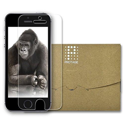 PROTAGE iPhone SE / iPhone5s / iPhone5c / iPhone5 対応 ガラスフィルム ゴリラ ガラス 4 液晶保護 フィルム 0.4mm ラウンドエッジ 指紋防止 CORNING GORILLA GLASS 4 素材使用 保護フィルム 安心の1年保証 アイフォン iPhoneSE 5s 5c 5 対応