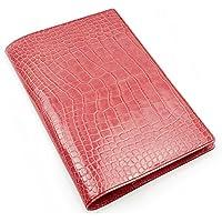 アクュード Cookday 日本製 本革 手帳カバー Made in Japan コッコ クロコ型押 A5サイズ用 - BDA5-02 PK ピンク