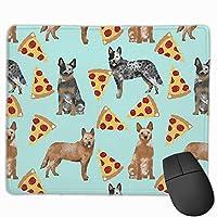 オーストラリアの牛犬のピザ マウスパッド 25×30 大判 ノンスリップ 防水 ゲーミング おしゃれ マウスの精密度を上がる