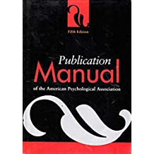 Publication manual of the American Psychological Association 5th Fifth Edition;5th Edition, Psychologists, Psychotherapists, Mental Disorders