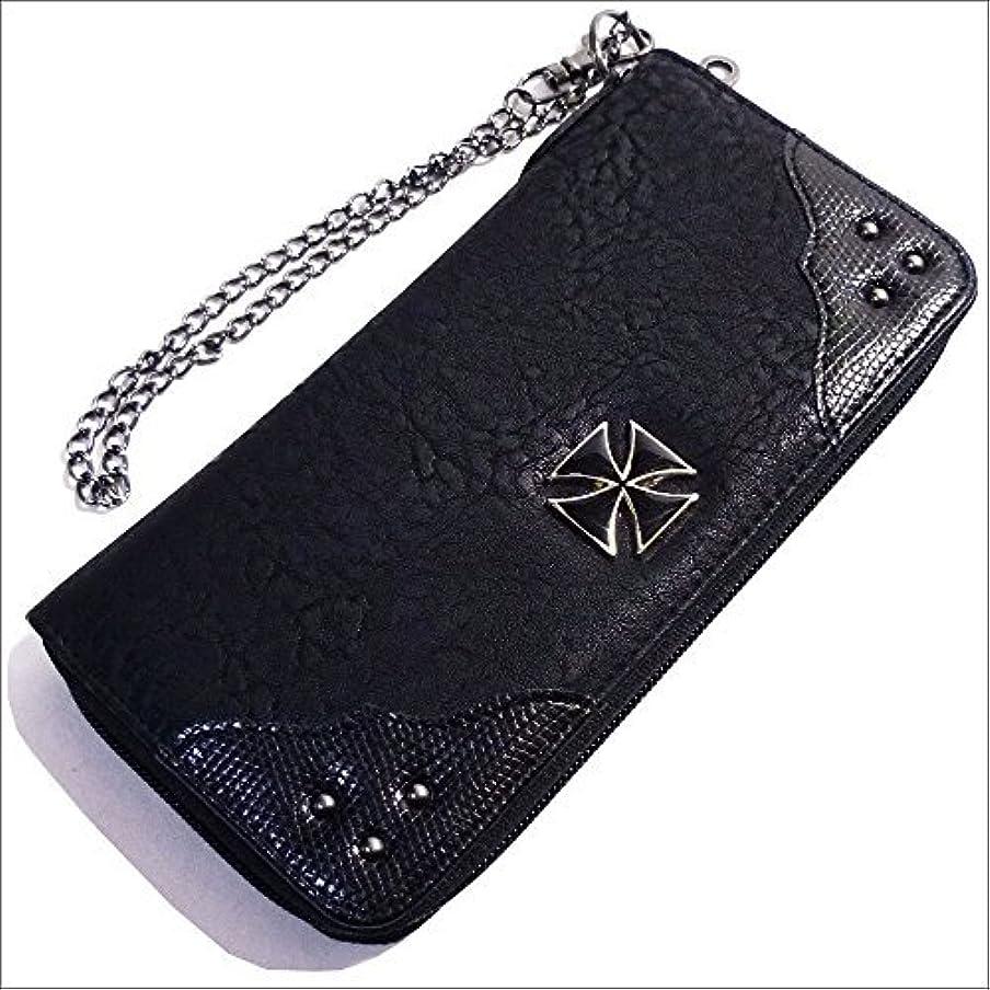 分類ブランド名手のひらQUINTETTO アイアンクロス 鉄十字 ロング ウォレット 財布 03-ml-0182-y