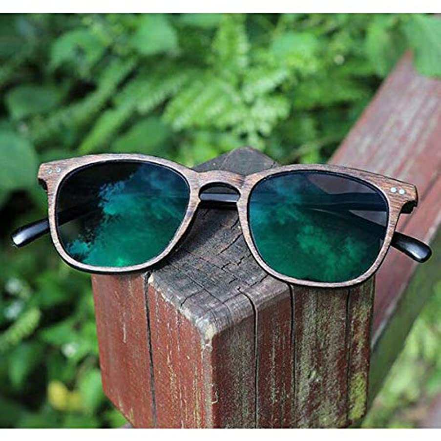 FidgetGear フォトクロミック老眼鏡ウッドグレインレトロメガネカラーチェンジサングラス グレー