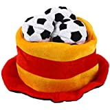bestoyardスペイン国旗サッカーボールパーティー帽子キャップ2018ワールドカップサッカーファン帽子キャップ