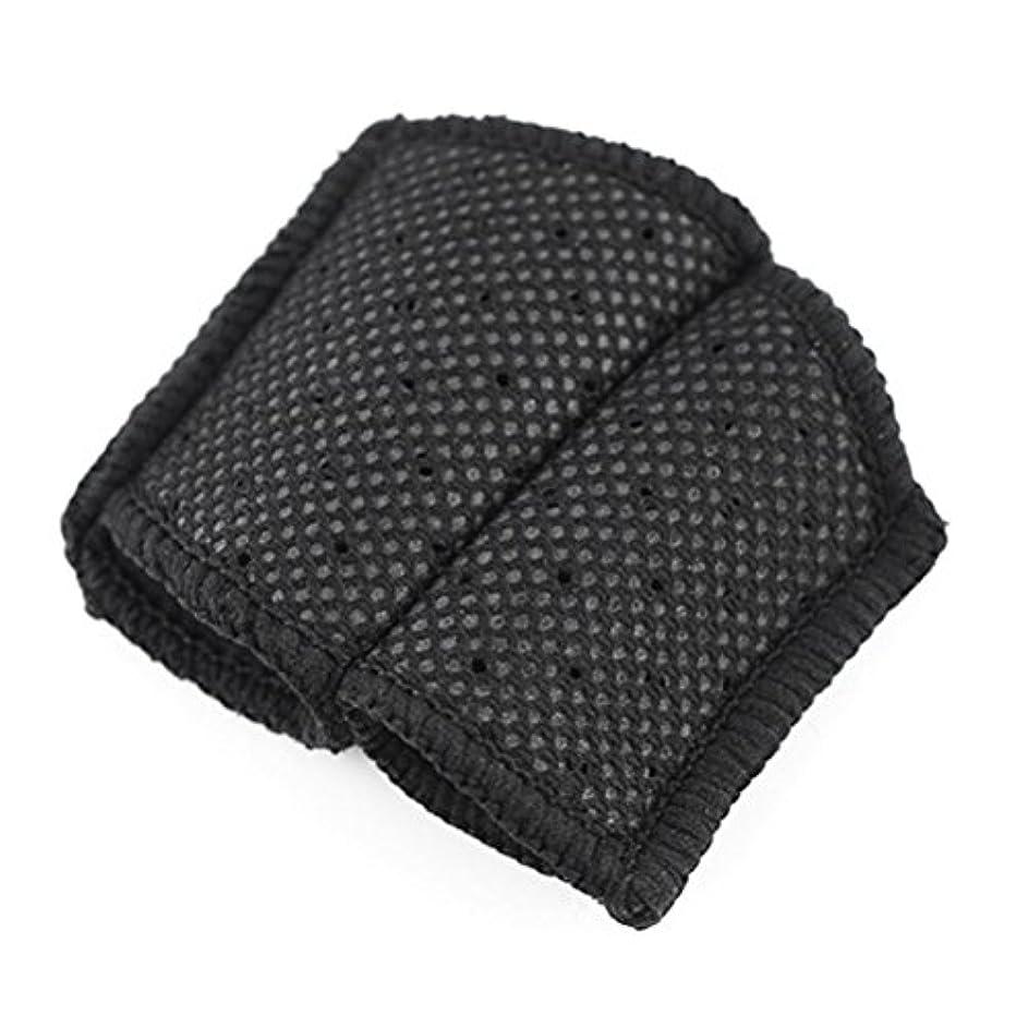 パフぴったり捨てるROSENICE バスケットボールのフィンガースリーブ指プロテクターバレーボール(ブラック)
