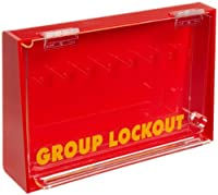 """Brady Acrylic Plastic Wall-Mount Group Lock Box for Lockout/Tagout,Large,7-1/2"""" Height,12"""" Width,2-1/2"""" Depth [並行輸入品]"""