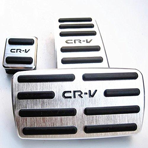 ホンダ CR-V車 アルミ フット ペダル 高品質 インテリア エクステリア カスタムパーツ ホワイト K001-11