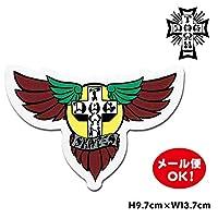 ドッグタウン スケートボード ウイング ロゴ ステッカー 6インチ【Dogtown Skateboards Wing Logo Die Cut sticker 6inch (Brown/Yellow)】