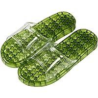 UPALL 足つぼ 健康 サンダル シャワールーム用 (L, 深緑)