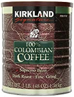 Signature VBNM Colombian Coffee, Supremo Bean Dark Roast-Fine Grind, 3 Pound, 2 Pack