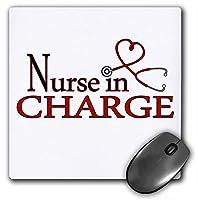 3drose LLC 8x 8x 0.25インチマウスパッド看護婦in chargeレッドハート聴診器( MP _ 181846_ 1)