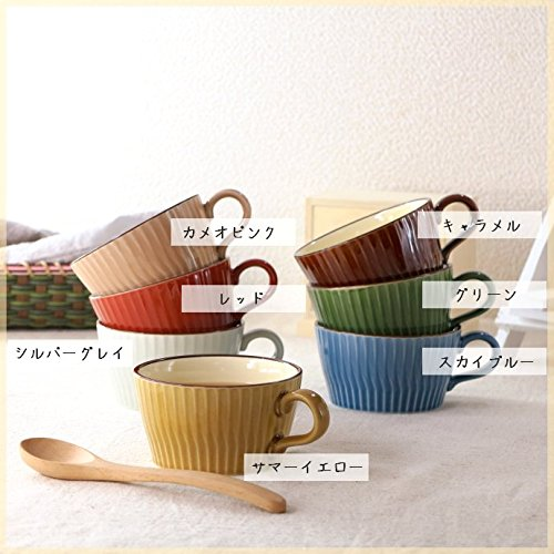 フルーティングスープカップ グリーン