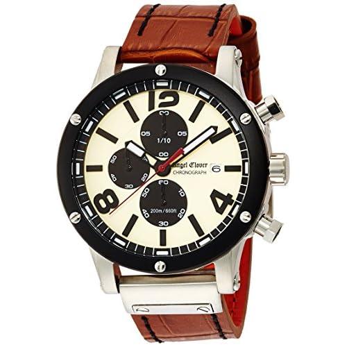 [エンジェルクローバー]Angel Clover 腕時計 エクスベンチャー アイボリー文字盤 クロノグラフ デイト EVC46BSB-LB メンズ
