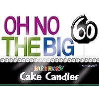"""The Party連続60th Birthdayパーティー"""" Oh No Big 50"""" Moldedつまようじキャンドル装飾、11、マルチパック、3""""ワックス、スティック"""