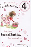 孫娘4歳の誕生日 - カード。