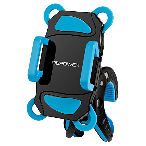 DBPOWER 自転車 スマホホルダー バイクスタンド スマホスタンド iPhone Android GPS 固定用 マウントキット バイク スマホホルダー 多機種対応 スマホ 360度回転 脱落防止
