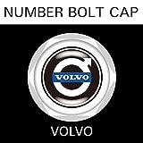 【VOLVO】【ナンバープレート用】ボルボ ナンバーボルトキャップ NUMBER BOLT CAP 3個入りセット タイプ1 ブラガ (¥ 2,200)