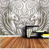 Xbwy カスタム大エンボス加工女性の寝室の背景壁画ロール壁3D壁紙3Dリビングルーム用の自然な壁紙-150X120Cm