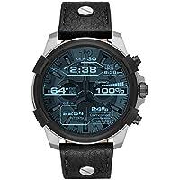 Diesel Men's Digital Watch smart Display and Leather Strap, DZT2001