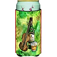 Caroline 's Treasures Irish Whiskey &音楽Tall Boy Beverage Insulator Hugger ,マルチカラー