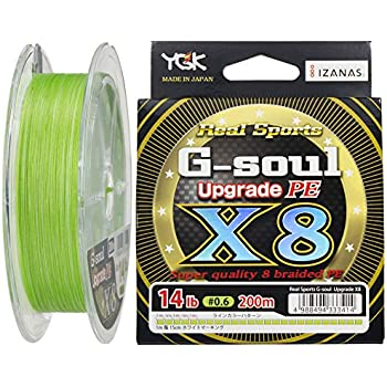 よつあみ(YGK) PEライン Gソウル X8 アップグレード 200m 0.6号 14lb 8本 グリーン