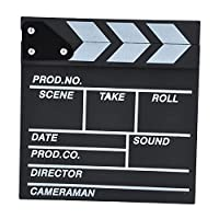 leermart Classical Director Clapper BoardシーンClapperboardカットProp for TV映画PromoビデオまたはFun 30 x 27cm ブラック