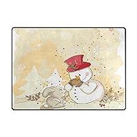 AyuStyle カーペット ラグマット ウサギ かわいい バニー rabbit 個性的 フロアマット 200×150CM マット 長方形 絨毯 リビング 床暖房対応 こたつ敷き 滑り止め付 部屋の装飾品