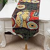 テーブルランナー ホームデコレーション 北欧 工芸品 おしゃれ 結婚式 パーティー 芸術 民宿 民族スタイル (Color : スタイル2, Size : 33*200cm)