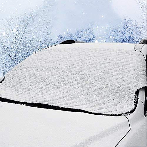 フリーソー(FREESOO)カーフロントカバー 車用遮光サンシェード フロントシェード 凍結防止 雪避け 雪対策 霜よけ 日よけ 遮光 遮熱 夏冬兼用 汎用 軽自動車用