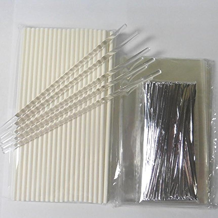 ブラスト読書荷物100pcs (15.2cm Lollipop Sticks + 7.6cm x12.7cm Bags + Twist Ties) for Cake Pops Lollipop Candy