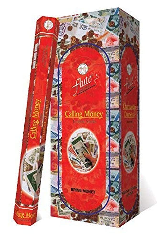 子羊蒸発する灌漑Incense SticksフルートCalling Money Agarbatti 120 Sticks Hexaパケット