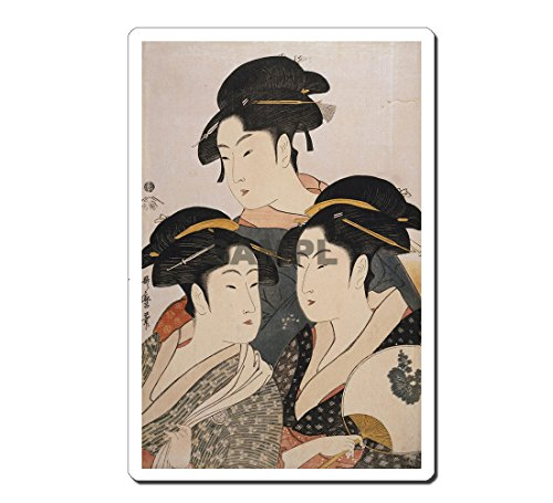 浮世絵マウスパッド 薄ぴた U5001 喜多川歌麿 - 当時三美人