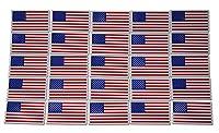 スモール アメリカの国旗 愛国心 ミリタリー マグネットセット クラッシックな赤、白、青の10個のミニ長方形 USデザイン(25ピース)