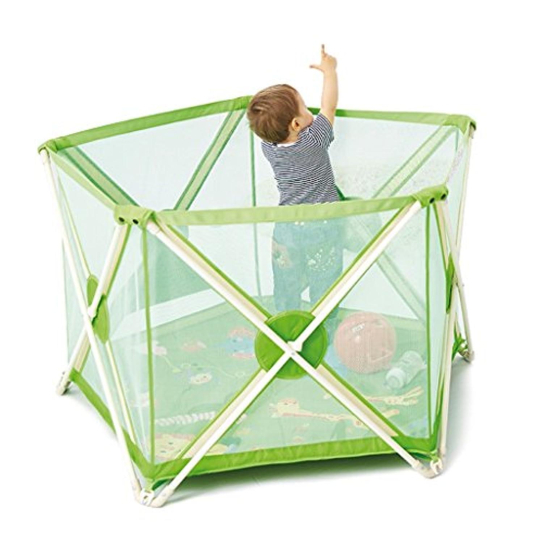 赤ちゃんの遊び場赤ちゃんの安全バー子供の遊び場屋内クロール幼児の少年少女と少女の安全活動センターの折りたたみ (Color : Green, Size : 72 * 75 * 112cm)