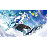 混沌の女神様 初音ミク 同人 TCGプレイマット ☆『雪ミク/Illust:柚希きひろ』★ 【コミックマーケット89/C89】