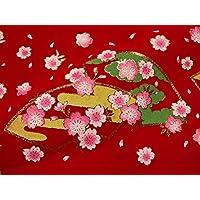 毛氈 (もうせん) 扇面桜 幅90cm×長さ90cm