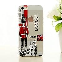 Cevio 正規品 iPhone5 5s Case 【ロンドン兵隊】透明 iPhone 5 ケース iphone5s カバー 【ストラップホール付き】魅力的  凹凸彫刻柄  人気 ブランド アップル スマホ スマートフォン 携帯 アイフォン 5 5s  アイホン 5 5s カバー  お洒落 な  プレゼント