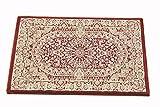 ウィルトン織 ペルシャ 玄関マット 約 50X80 75万ノット 屋内 室内 サフィール5080 (レッド)