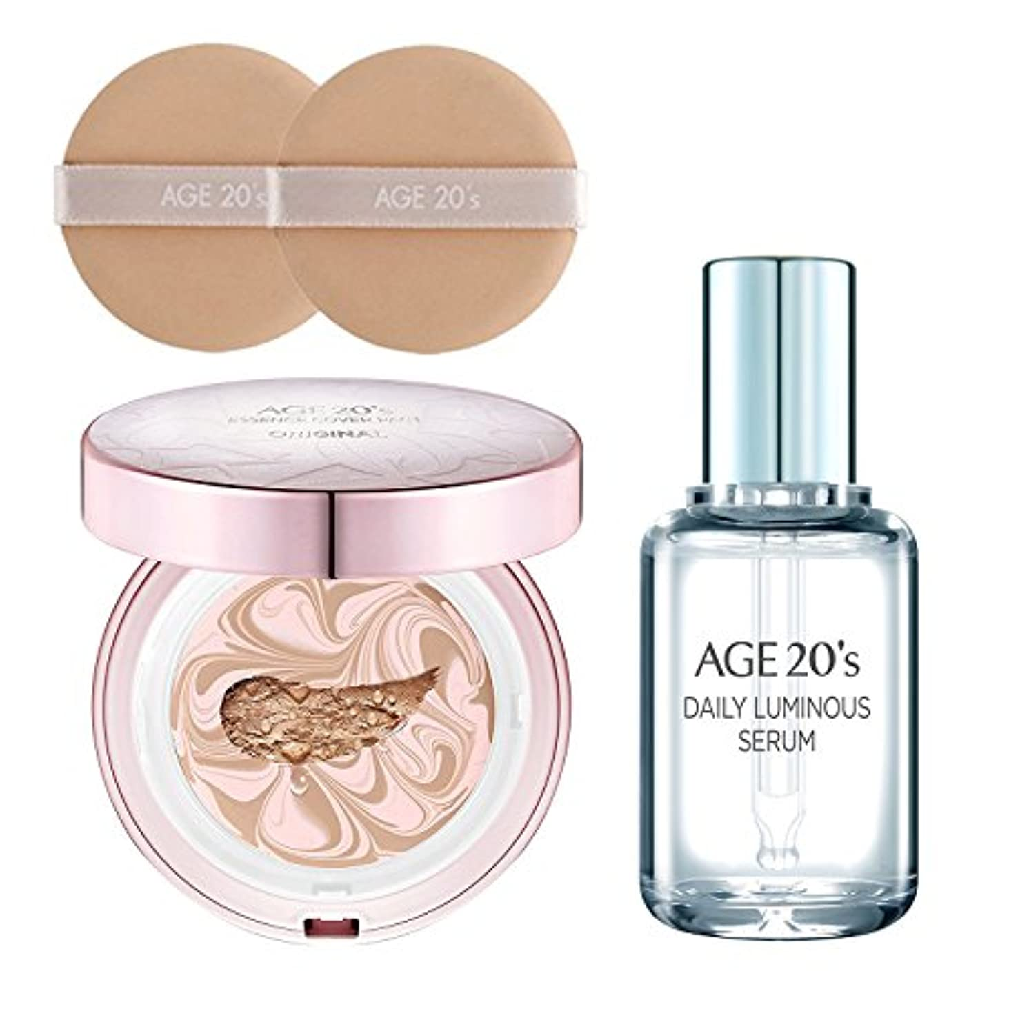 重量大混乱狭い[AGE 20s] エッセンス カバー パクト オリジナル(ESSENCE COVER PACT)+ GIFT (贈り物): Daily Luminous Serum 50ml / 韓国直送品 (ピンクラテ Pink Latte 23号)