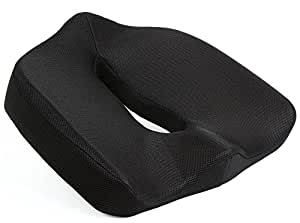 Naipo ヘルスケア座布団 健康クッション 通気性 低反発 骨盤サポート 腰痛対策 猫背 痔疾ケア 姿勢矯正