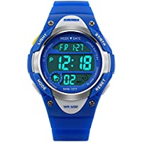 Watches,Kids Outdoors Waterproof Wristwatch,Multifunctional LED Digital Watch for Boys Girls