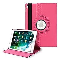 iPad Pro 10.5 ケース アイパッドケース 保護カバー 360度回転 シンプル レザー 薄型 iPadケース (色 ローズ) apple A1701 A1709