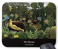 アンリ・ルソー『 夢 』 のマウスパッド:フォトパッド( 世界の名画シリーズ ) (キャプションあり)