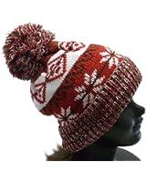 (ディグズハット)DIGZHAT ノルディック柄ポンポン付きニット帽