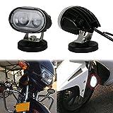 OVOTOR バイク補助灯 LED フォグランプ 12V/24V車兼用 20W スポットビーム 十分な光量 フォークリフトのライト 夜釣りの照明 撮影機材